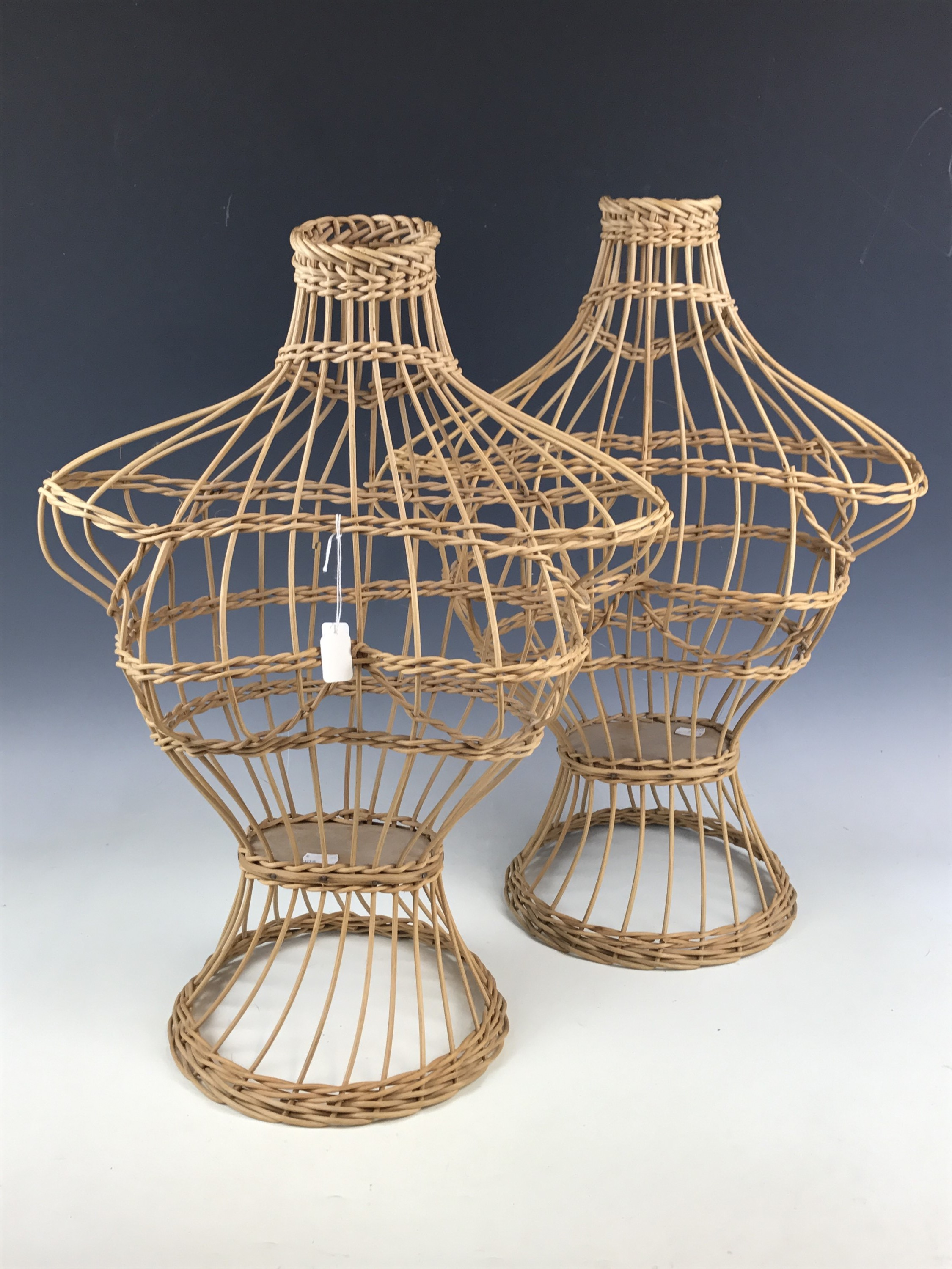 Lot 57 - Two wicker mannequins