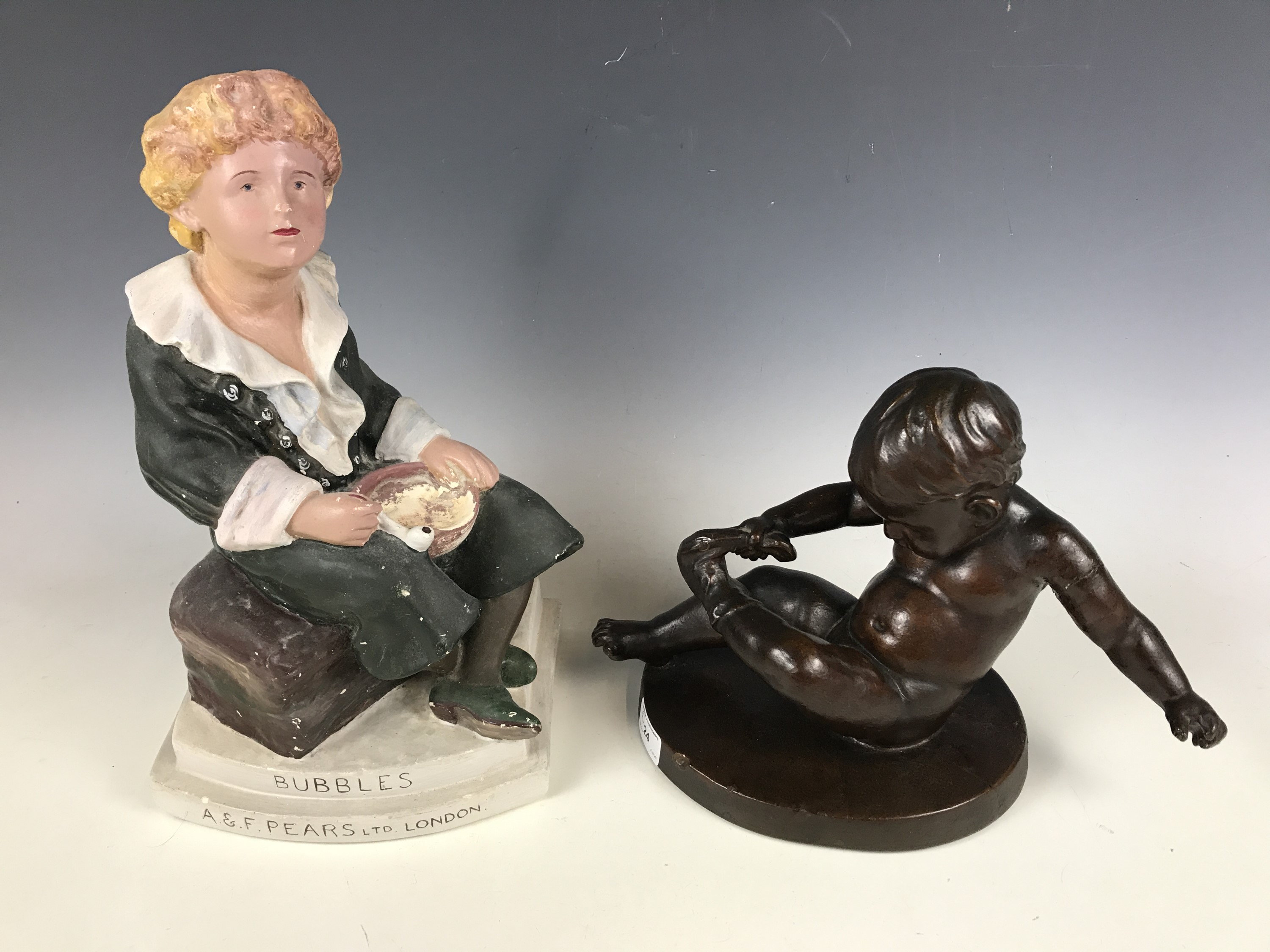 Lot 24 - A Bubbles advertising figure for A & F Pears Ltd of London, together with one other (a/f)