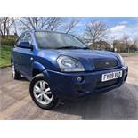 2009/09 REG HYUNDAI TUCSON STYLE 4WD CRDI 2.0 DIESEL BLUE, SHOWING 2 FORMER KEEPERS *NO VAT*