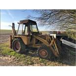 CASE 580F 4X4 BACKHOE LOADER, EXTENDABLE REAR ARM, NEEDS TIDYING UP & FRONT BUCKET *PLUS VAT*