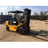 LANCING 5 TON DIESEL FORKLIFT, PERKINS 4 CYLINDER ENGINE, NEW BATTERY AND GLOW PLUG JUST FITTED