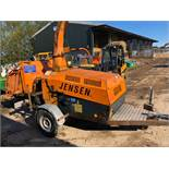 JENSEN A430 SINGLE AXLE TOW-ABLE WOOD CHIPPER, RUNS, WORKS AND CHIPS, SHOWING 2769 HOURS *PLUS VAT*