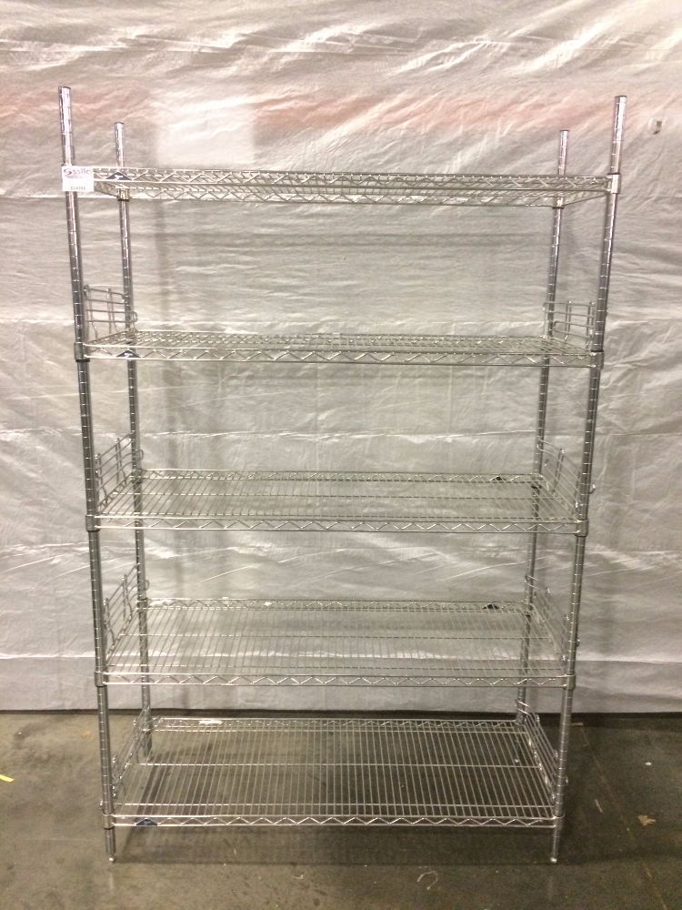 Lot 23 - 5 Tier Metro Rack with side guards - no wheels