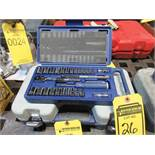 WILLIAMS 25 PC. 1/2'' DRIVE SOCKET SET, 1/2'' DRIVE RATCHET, 3'', 6'' & 10'' EXTENSIONS, METRIC, AND