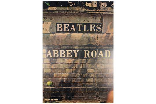 An Original USA Apple Records Promotional Poster For The Release Of Beatles Abbey Road LP In