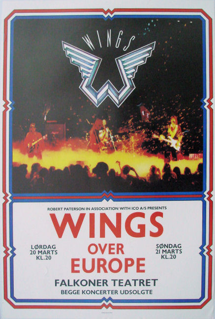 a collection of five original tour posters from the series of concerts that paul mccartney and wi