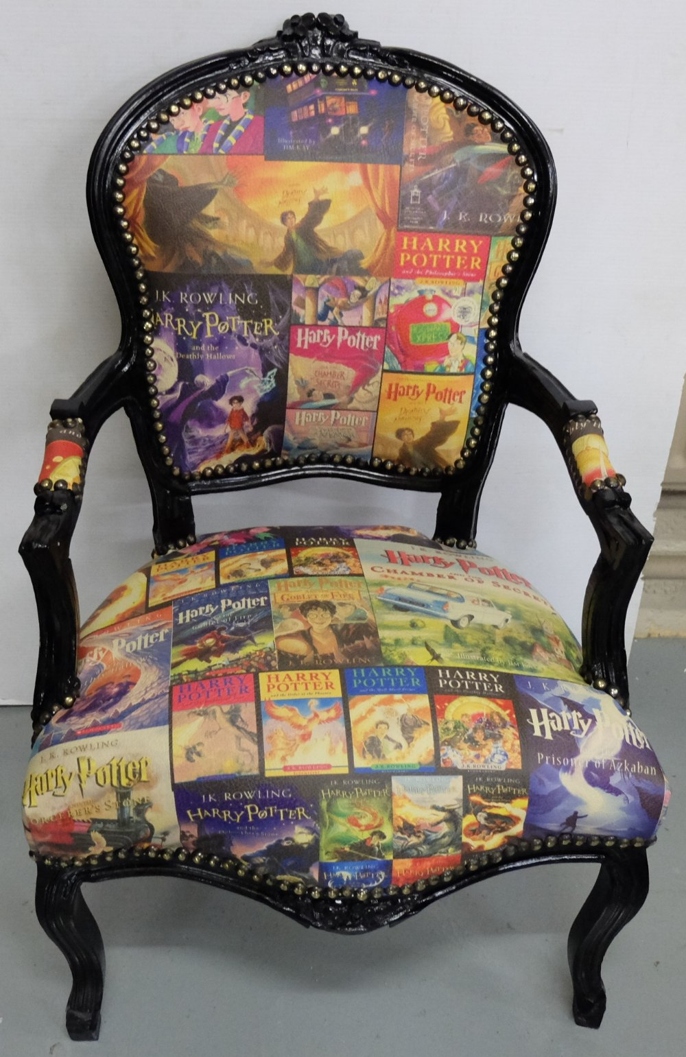 Lot 15 - Themed Armchair with Harry Pottery Book Covers