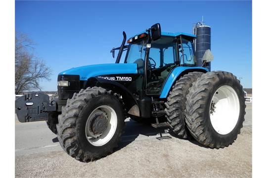 NH TM 150 MFWD Tractor, Dual Door Cab, 18 4R42 (70%) w/axle hub