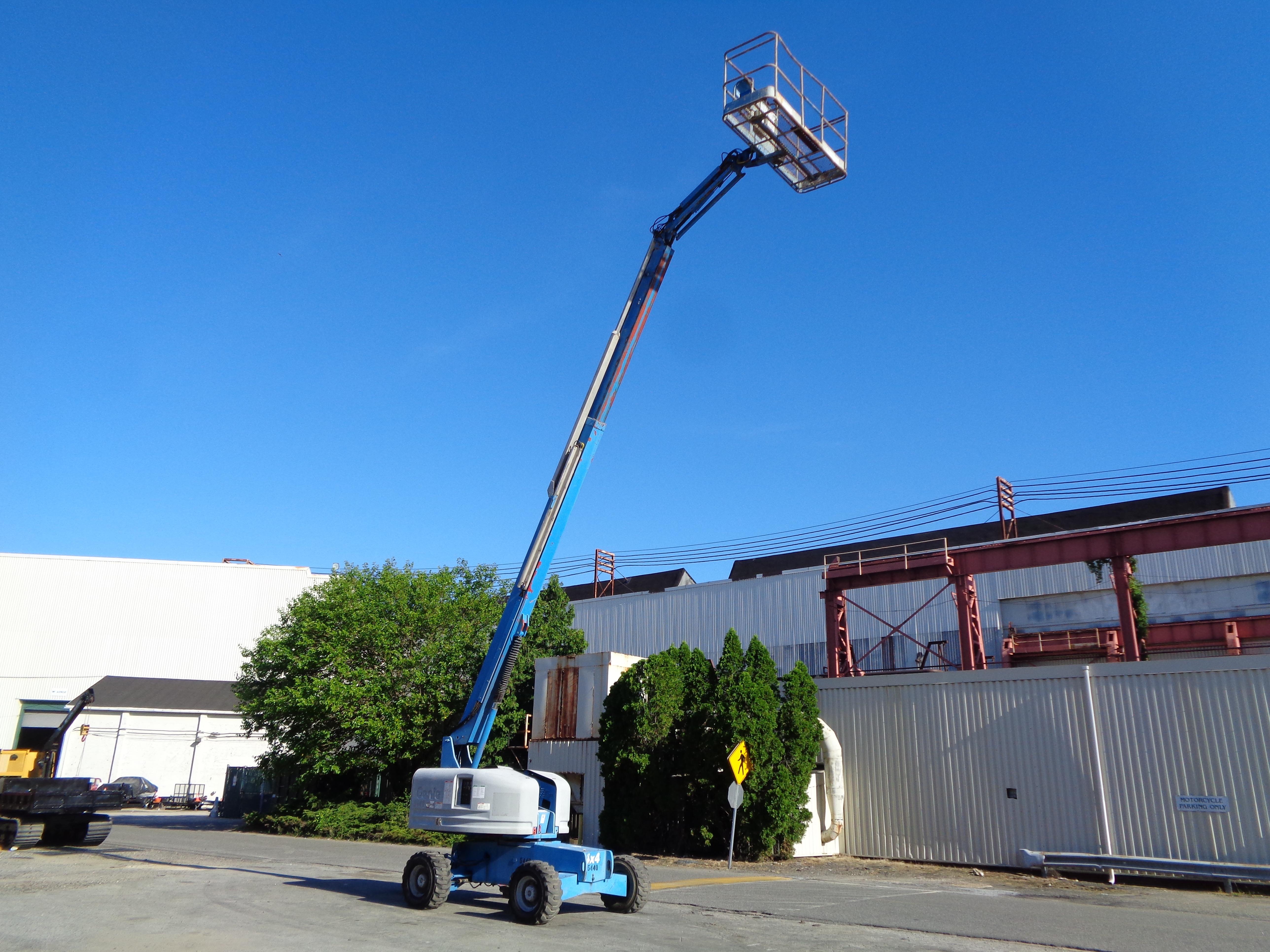 Lot 41 - Genie S45 Boom Man Aerial Scissor Lift 4x4 - 45ft Height
