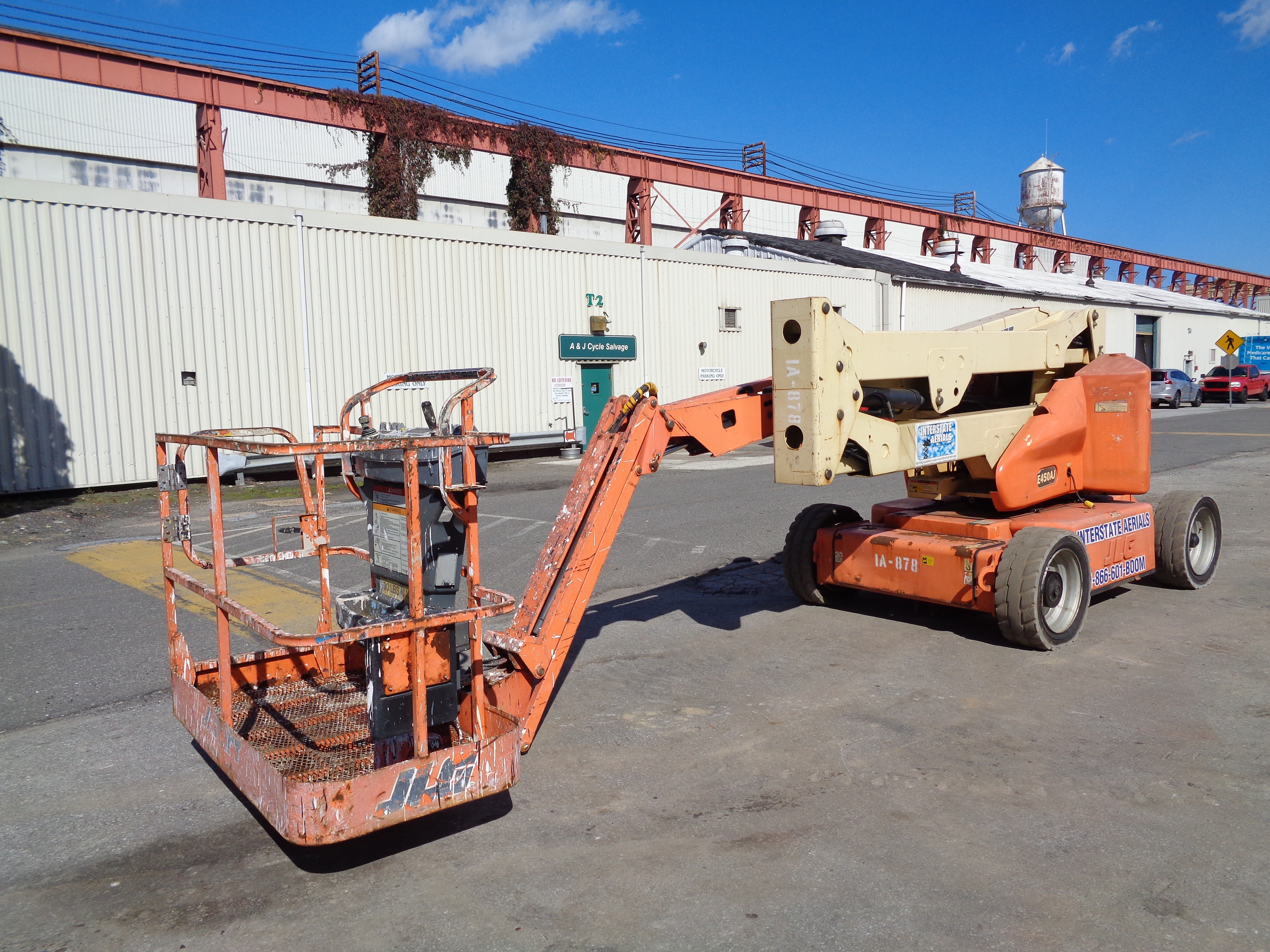 Lot 43 - 2002 JLG E450AJ 4x4 Electric Articulated Boom Lift - 45Ft Height