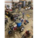 GRACO LINE LASER 3400 LINE PAINTER, GX120 HONDA GAS ENGINE POWERED, WITH STRAIGHT LINE 1000 TAPE