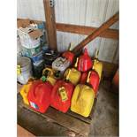 SKID OF ASSORTED FUEL CANS