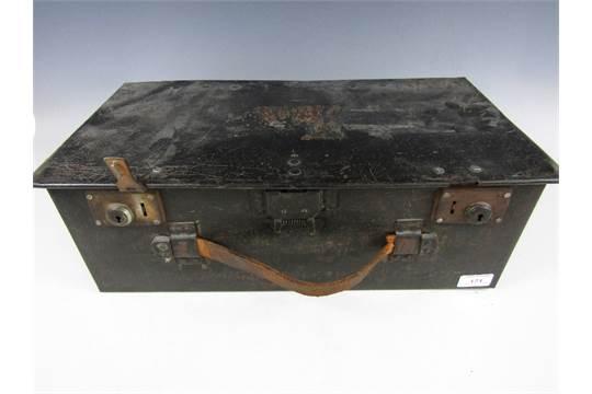 A First World War Lewis Machine Gun ammunition box (modified for