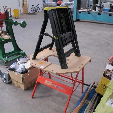 A Dunlop Powerbase Folding Work Bench C W A Stanley Folding Saw Horse