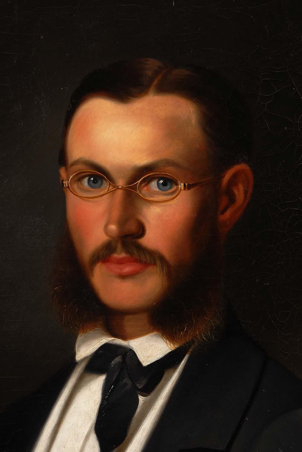 Auktionslos 4422 - Uhl, Carl Wilhelm: Drei Bildnisse der Familie von Finck. Je Öl/Leinwand, zweimal links signiert/