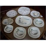 A collection of Midwinter tableware, to include Riviera plates, teacups, saucers, platter, and