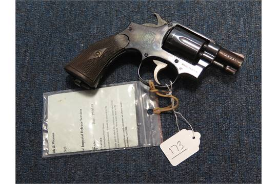 Revolver: A Smith & Wesson  38 Special snub nosed revolver