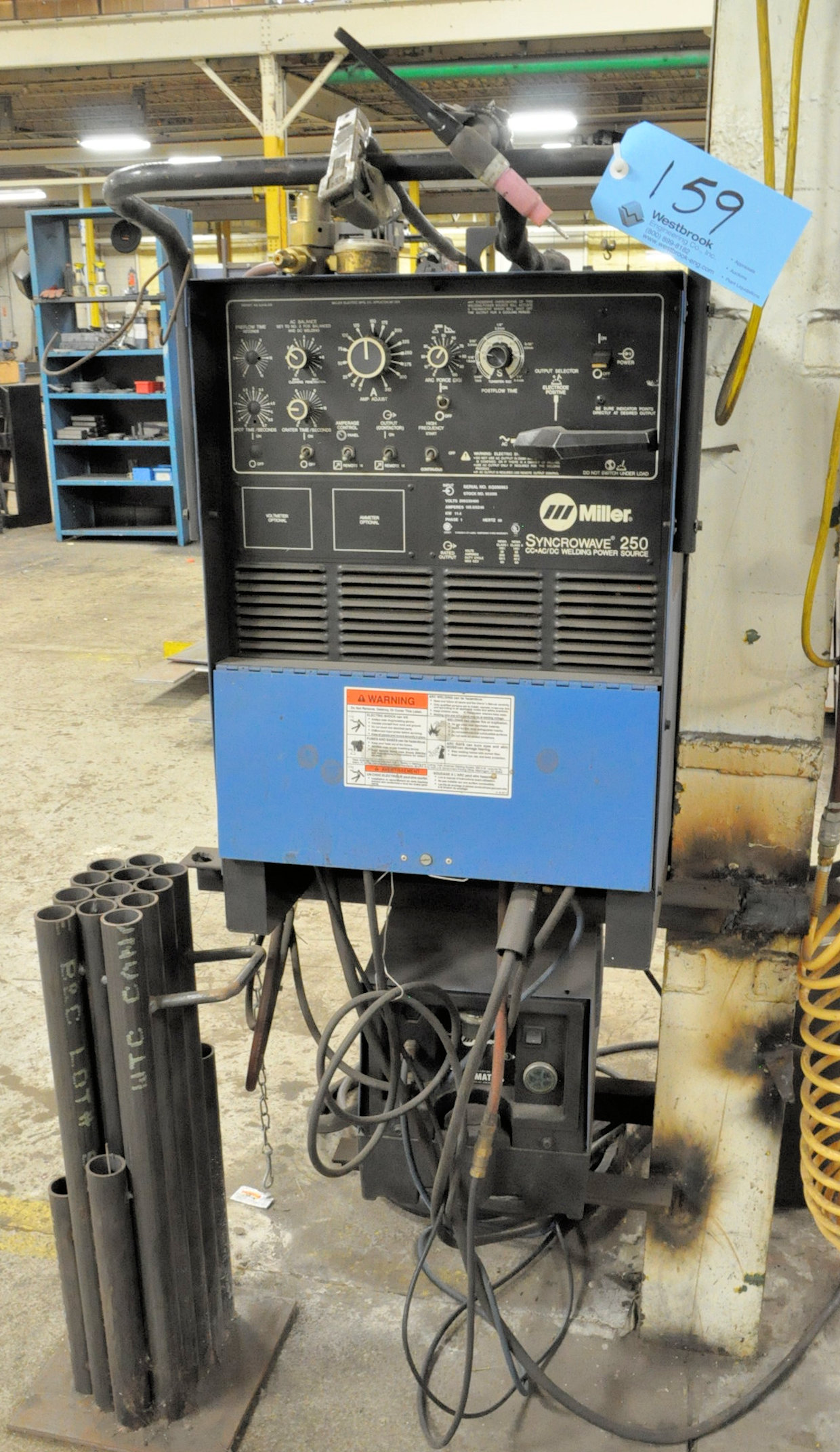 Miller Syncrowave 250, CC AC/DC Tig Welder, S/n KG090963 (1996), with Leads
