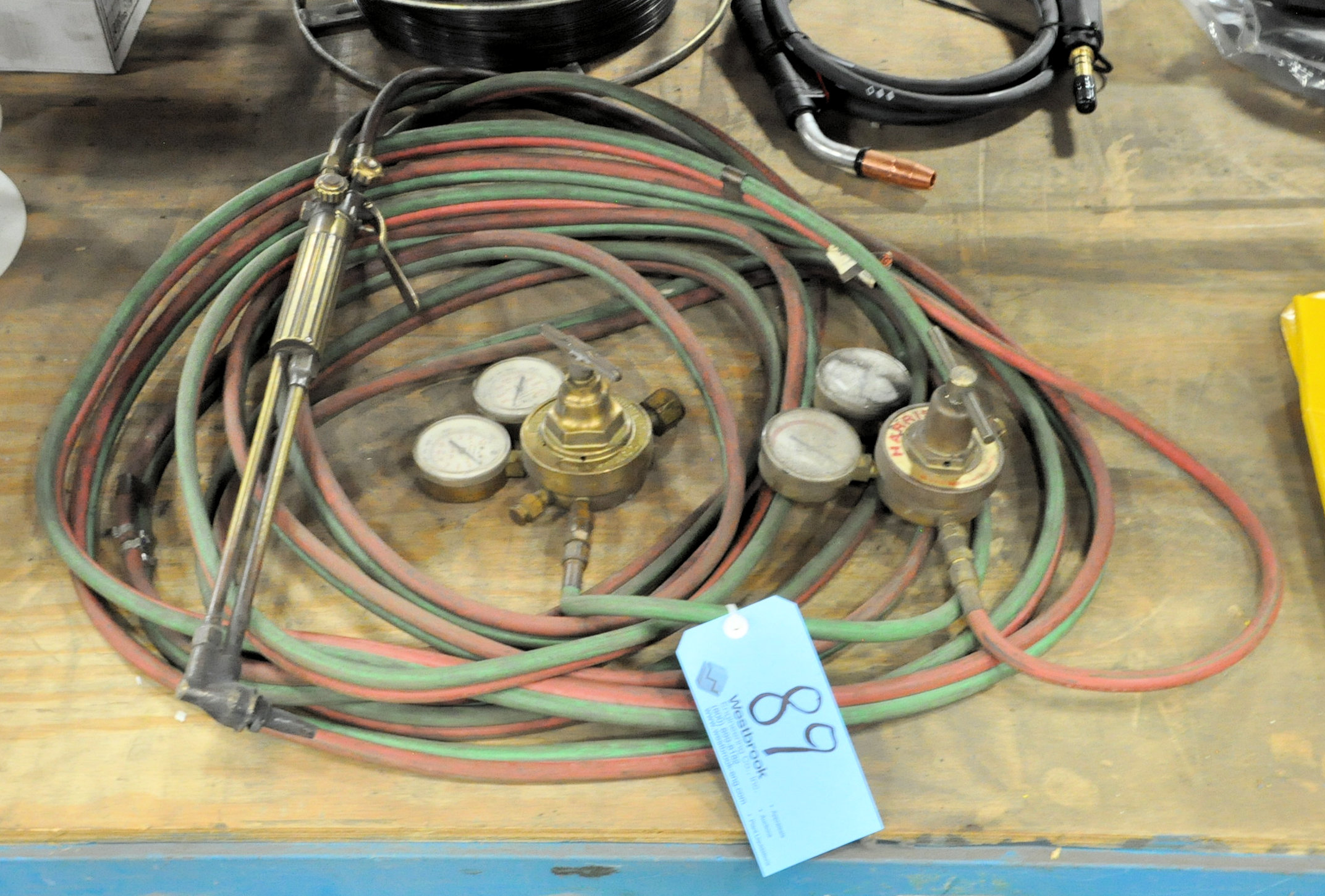 Oxygen/Acetylene Hose with Torch and Victor/Harris Regulators