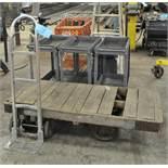 Lot-Shop Carts, Steel Frame Wood Deck Stock Cart, Aluminum hand cart, Shopping Cart, Portable Steps