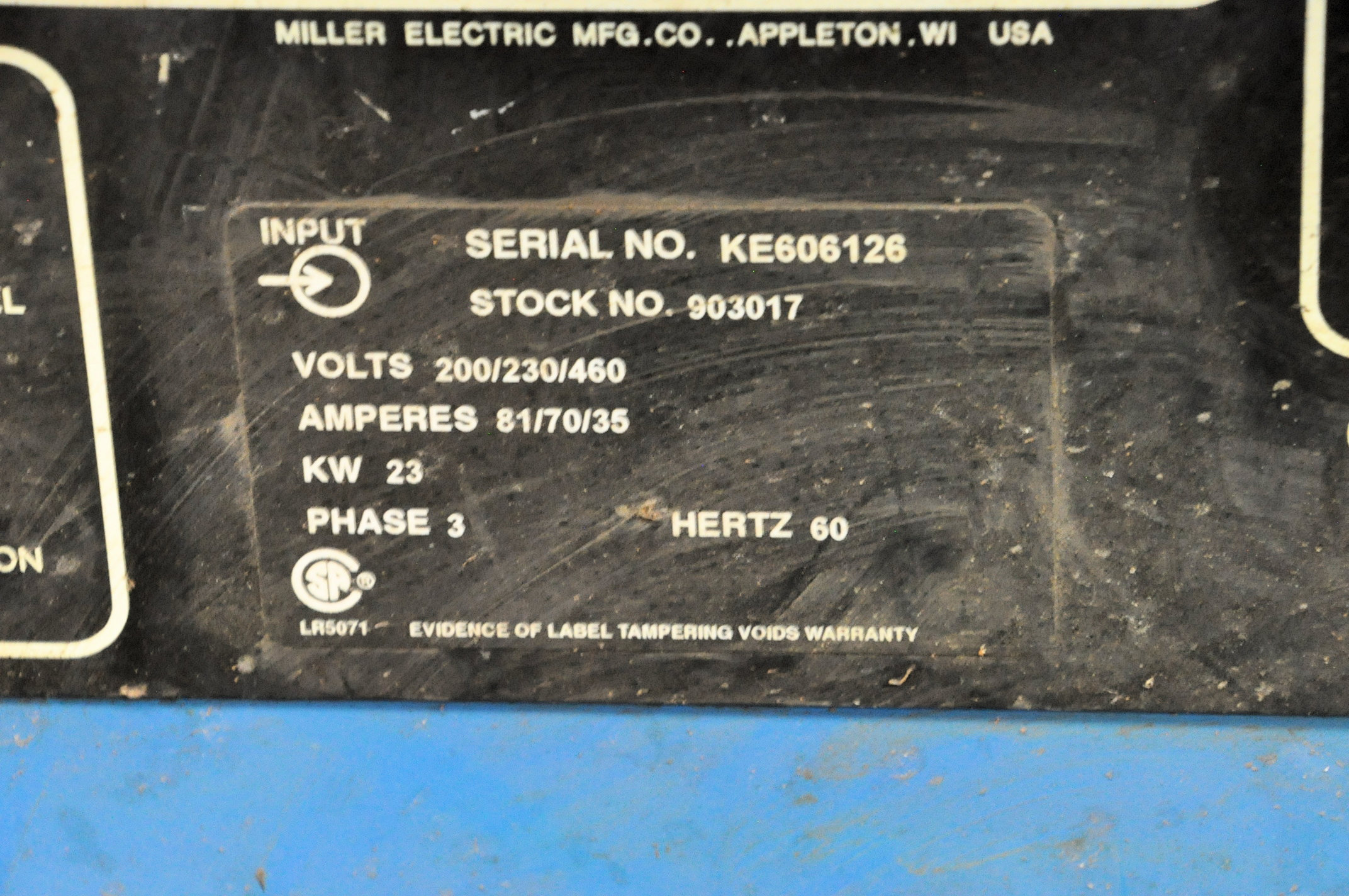 Miller Deltaweld 451, 450-Amp Capacity CV DC Arc Welding Power Source with Miller S-60 Wire Feeder - Image 3 of 3