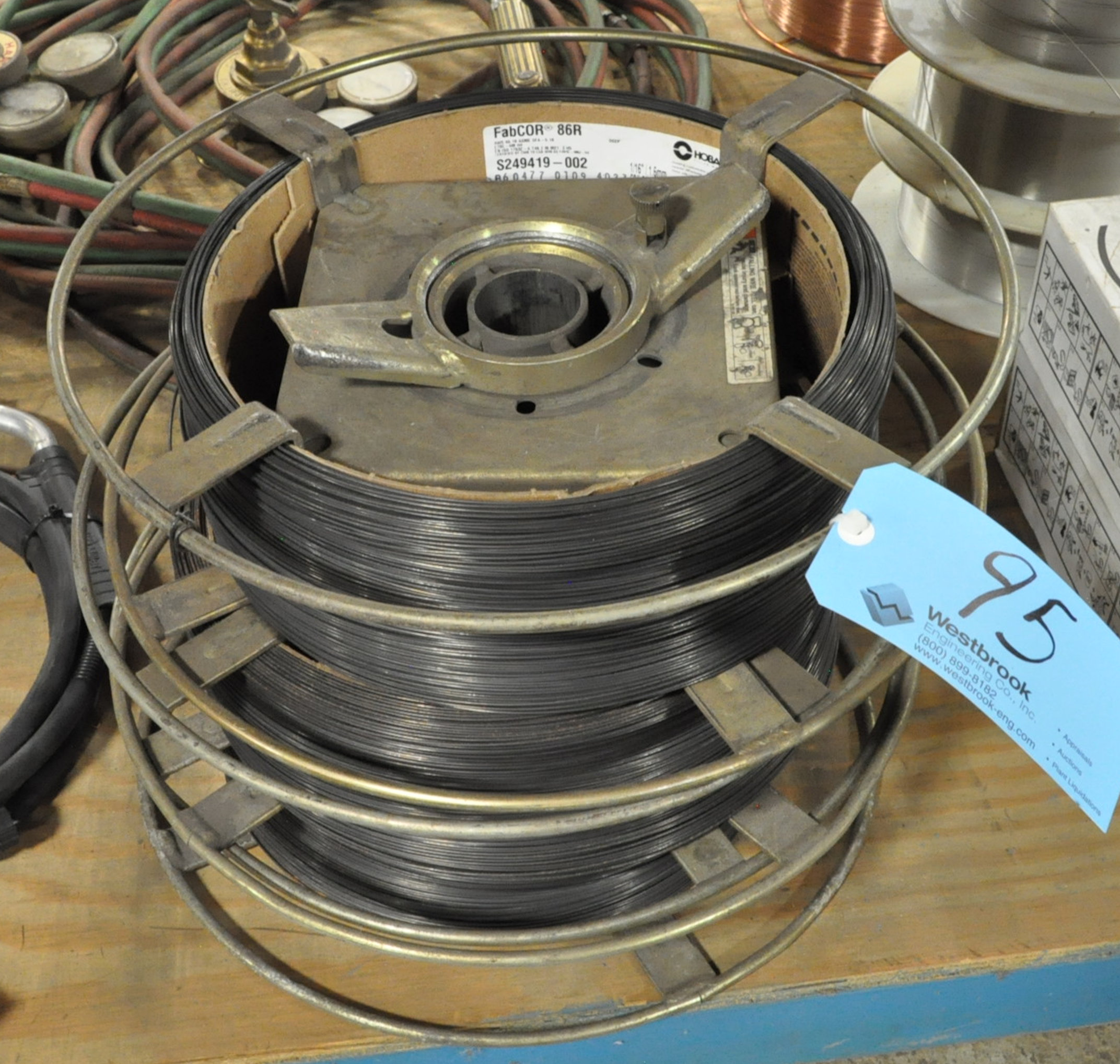 "Lot-(3) HOBART FABCOR 86R, 1/16"" Welding Wire Spools in (1) Stack"