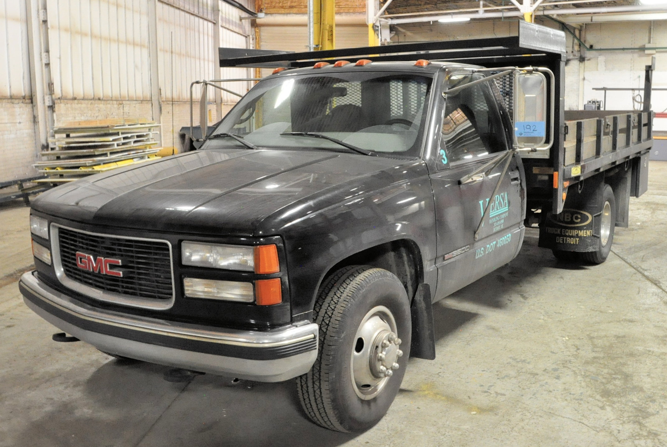 2000 GMC Sierra C3500 SLE, 12' x 8' Stake Truck