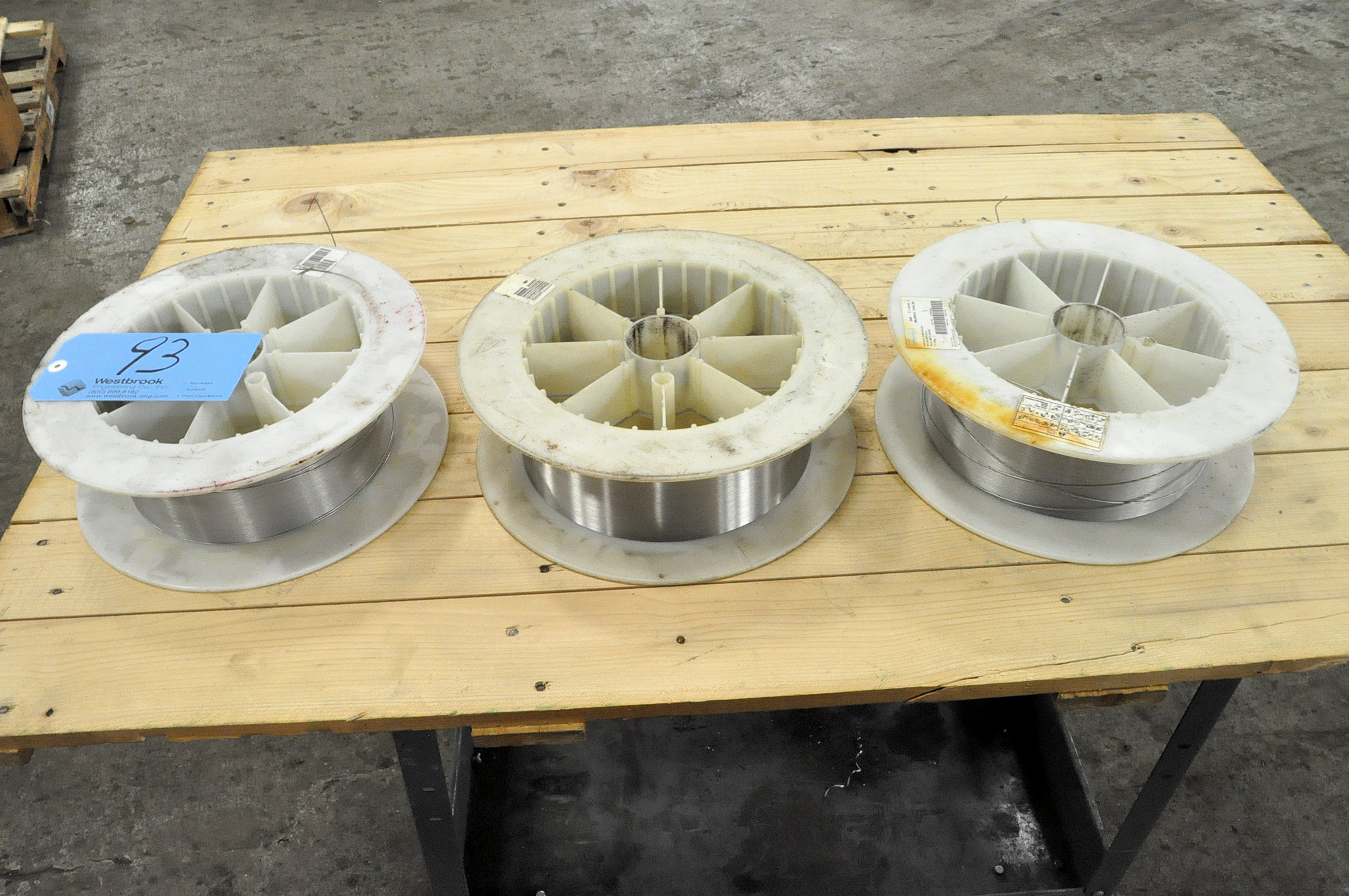 "Lot-(3) MUREX 316LSI, Stainless Steel .045"" Partial Welding Wire Spools in (1) Stack"
