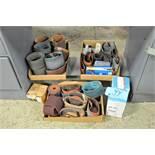 Lot-Sanding Belts, Flapper Wheel and Soap Stones Under (1) Bench