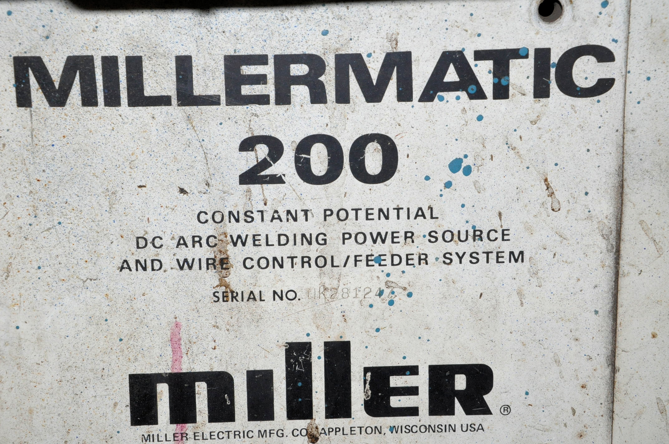 Miller Millermatic 200, 200-Amp Capacity CP DC Arc Welding Power Source with Integrated Wire Feeder - Image 2 of 2