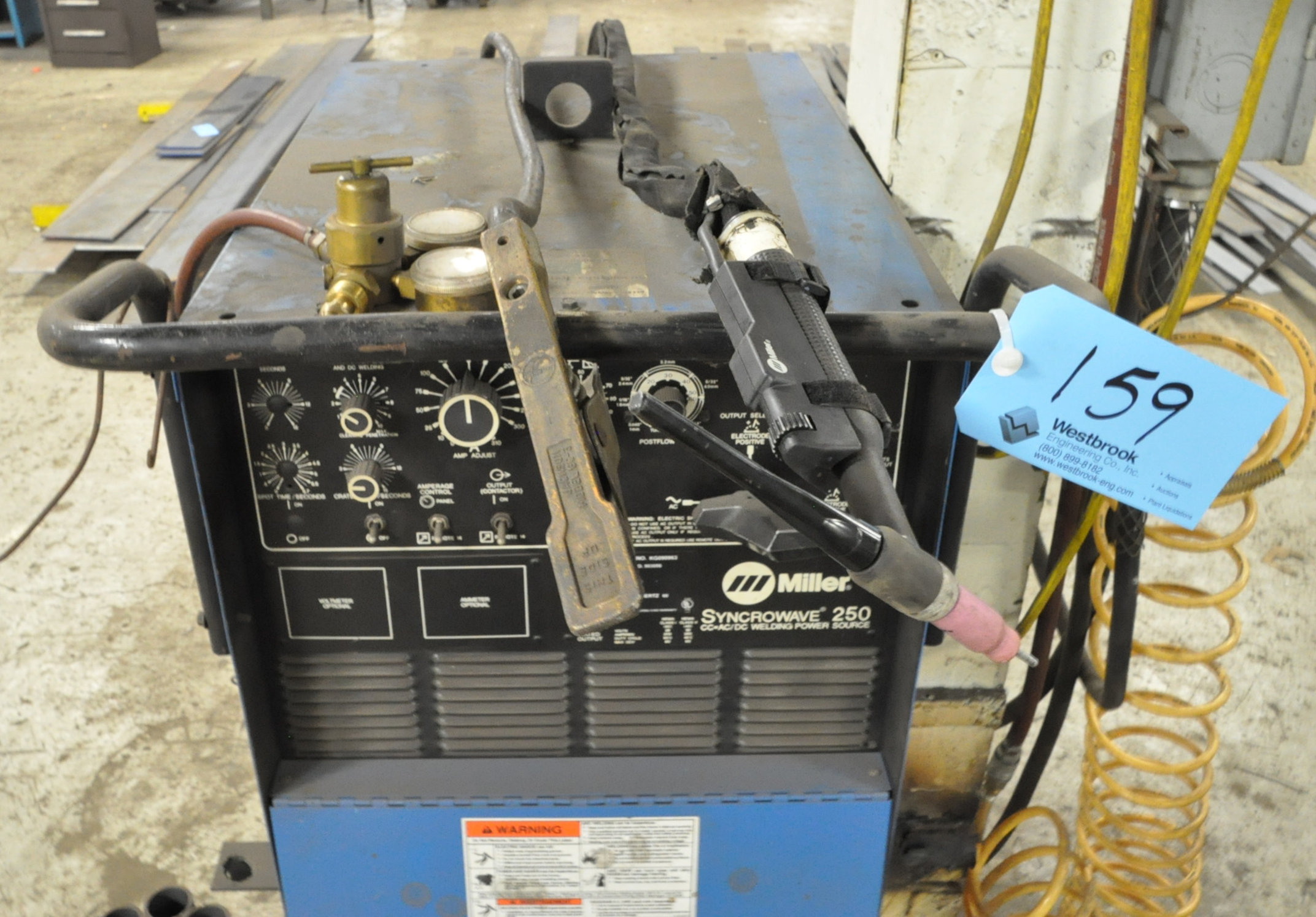 Miller Syncrowave 250, CC AC/DC Tig Welder, S/n KG090963 (1996), with Leads - Image 2 of 4