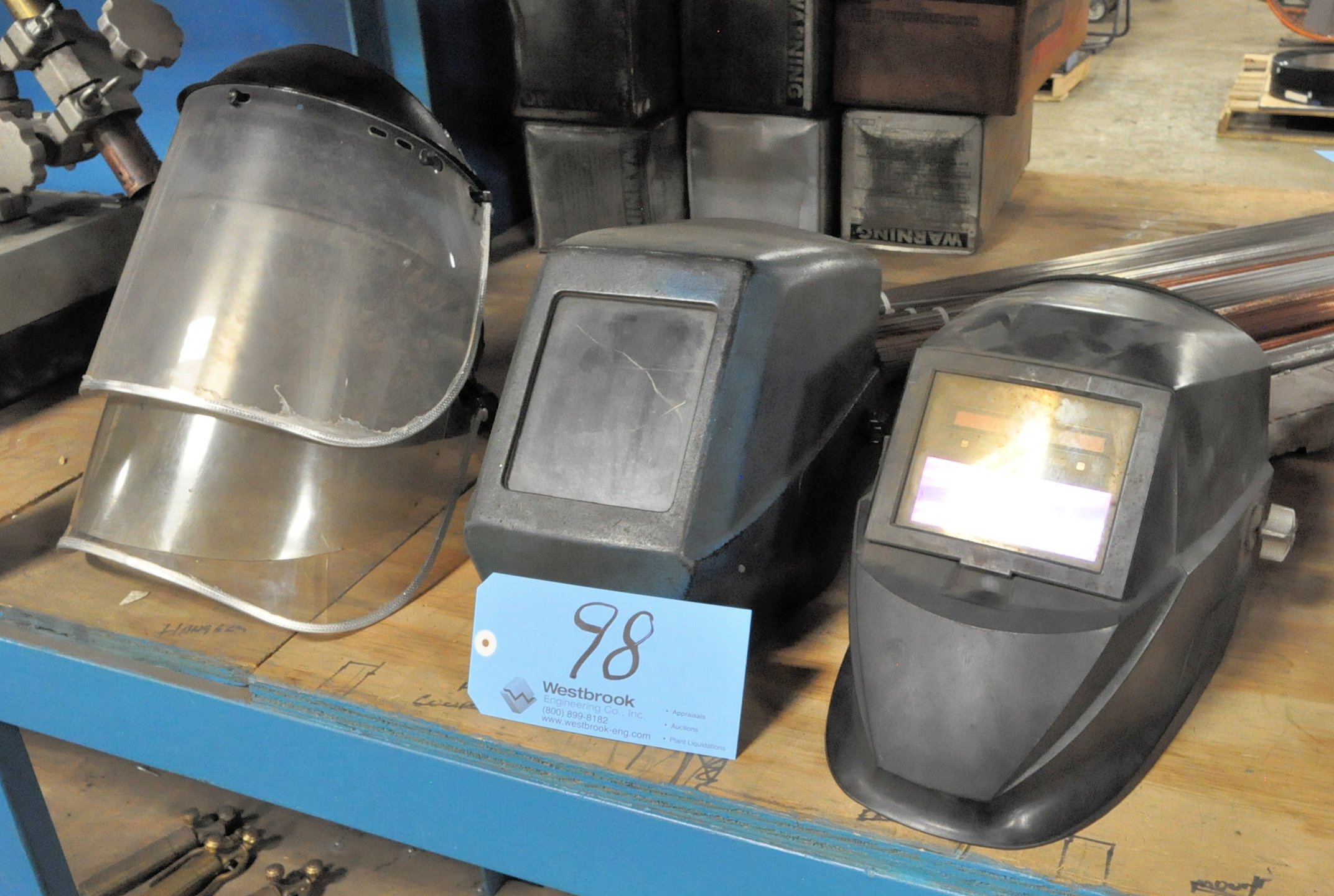 Lot-(4) Welding Helmets