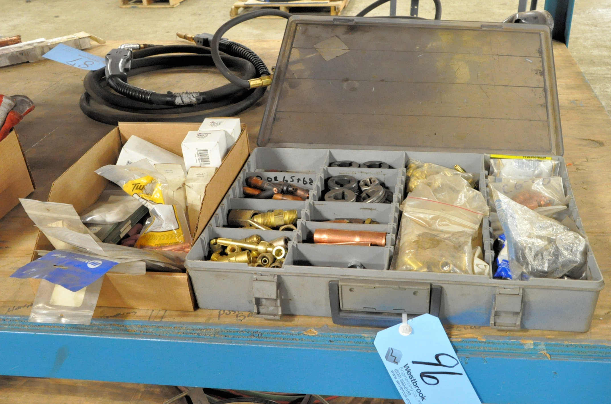 Lot-Mig/Tig Welding Tips and Accessories in (1) Service Kit and (1) Box