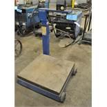 "UNITED Model 4803 2,000-LB Portable Platform Beam Scale, S/n 0681-55081-10, 28"" x 28"" Platform"