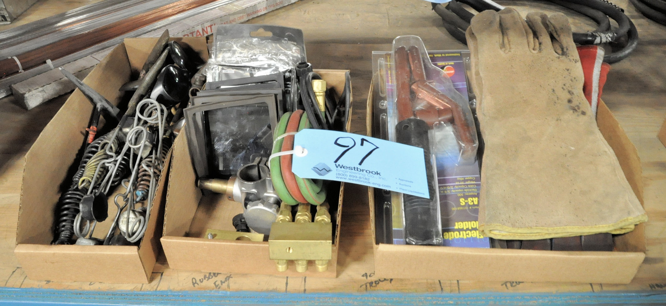 Lot-Oxy/Acet and Arc Welding Supplies in (3) Boxes