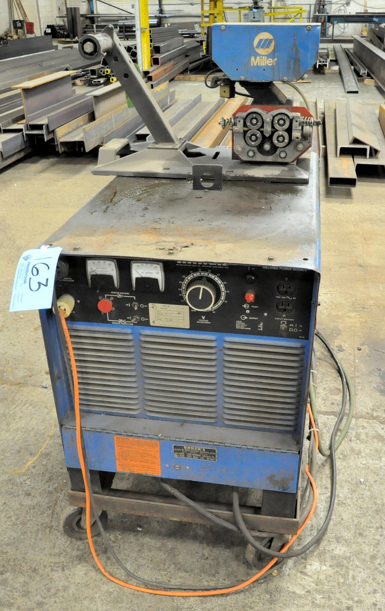 Miller Deltaweld 450, 450-Amp DC Arc Welding Power Source with Millermatic S-45E Wire Feeder