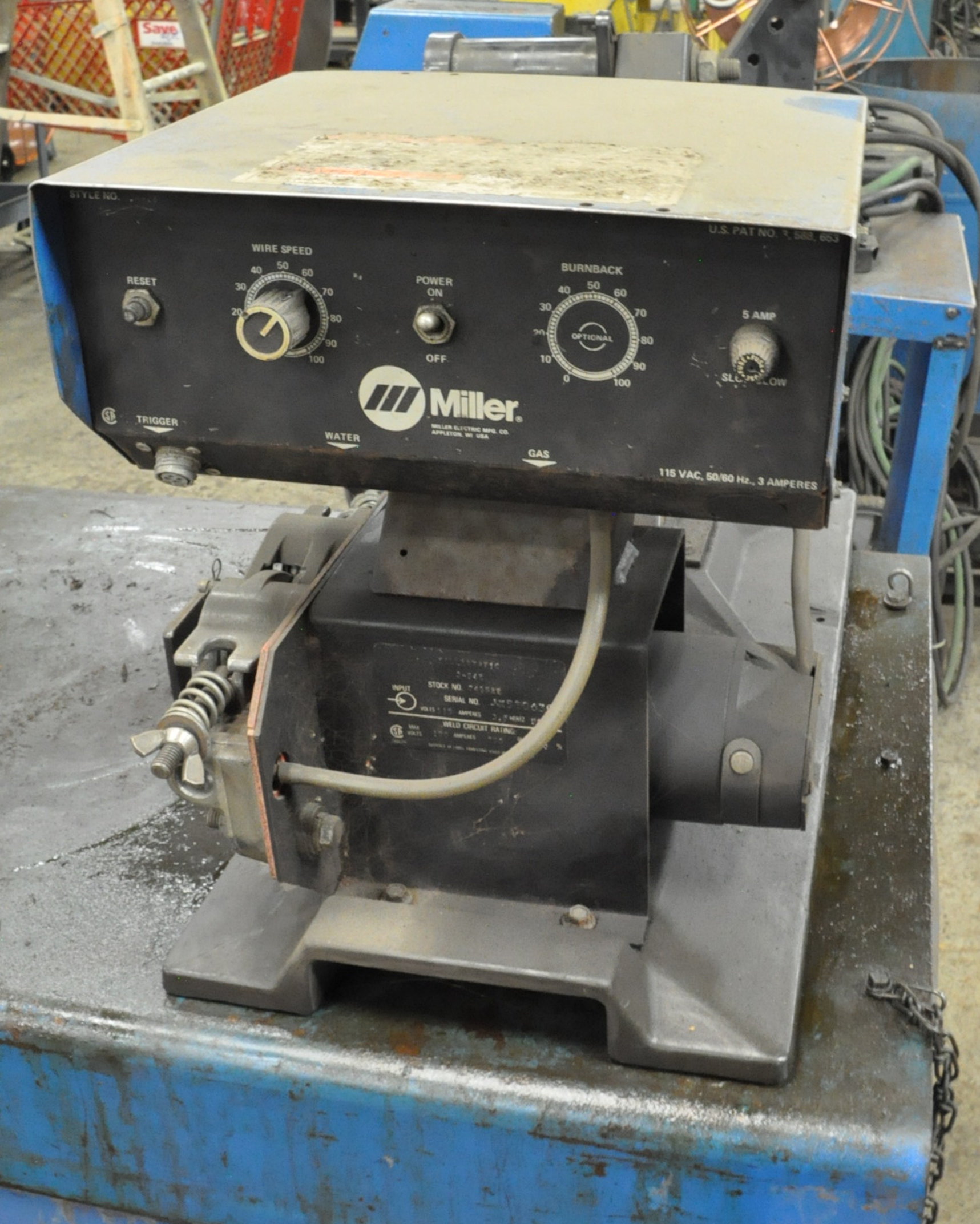 Miller Deltaweld 450, 450-Amp DC Arc Welding Power Source with Millermatic S-45E Wire Feeder - Image 2 of 3