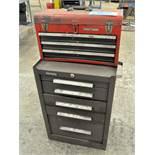 Lot-(1) Kennedy 5-Drawer Tool Box with (1) Craftsman -Drawer Flip Lid Tool Box