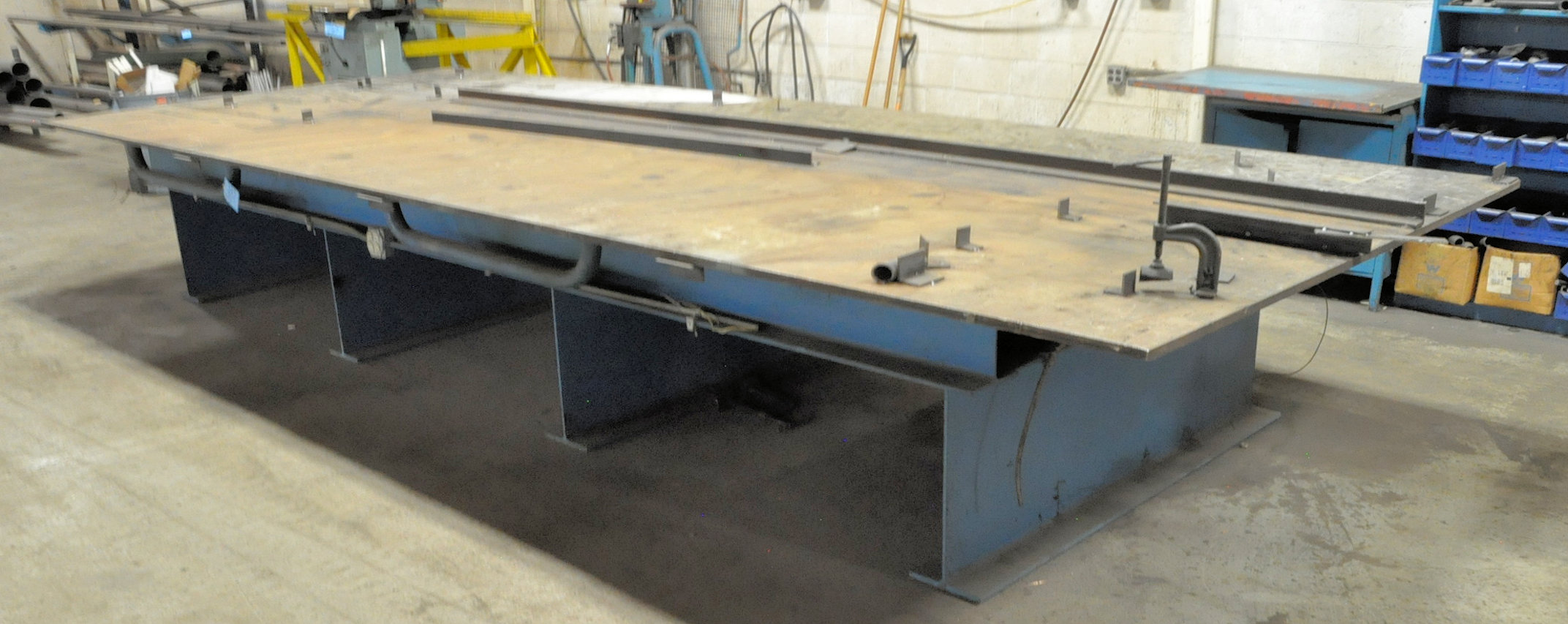 "240"" L x 96"" W x 35"" H x 1"" Thick Steel Welding Table"