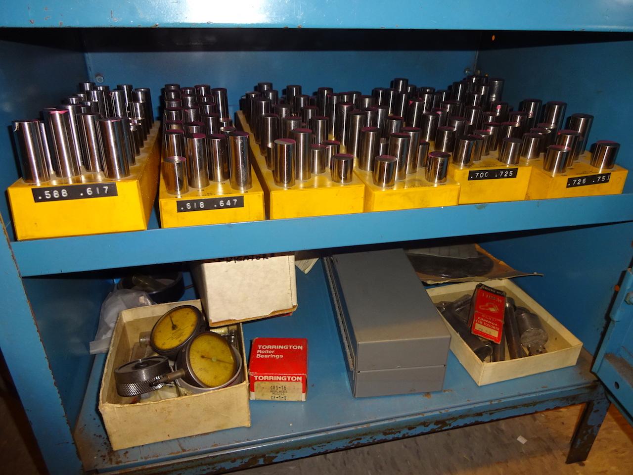Lot 343 - LOT: ASSORTED PIN GAUGE SETS W/ CABINET