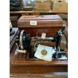 Frister & Rossmann manual sewing machine with case.