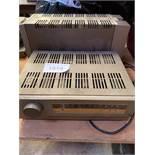 Quad FM11 tuner and Quad 303 power amplifier.