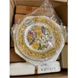 Box of 9 RHS Chelsea Flower Show Royal Doulton plates.