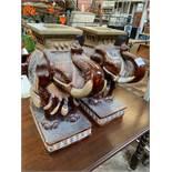 2 ceramic Oriental elephant stools.