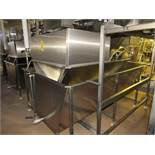 "Stainless Steel Tank, 64"" W X 112"" L X 3' D with 16"" W X 6' L incline conveyor (no belt), 1 h.p.,"