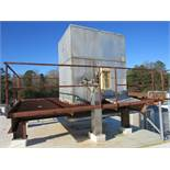Turbo Mdl. Tigar 36-20 Ammonia Plate Chiller, Ser. #E022030, on roof top structure, 21 plates in