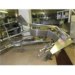 "Stainless Steel ""Z"" Conveyor, 18"" W X 9' L (no belt), 1 h.p., stainless steel motor, 220 volts ("