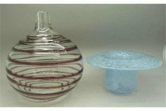A 1930s Whitefriars Glass Vase By Barnaby Powell And A 1930s
