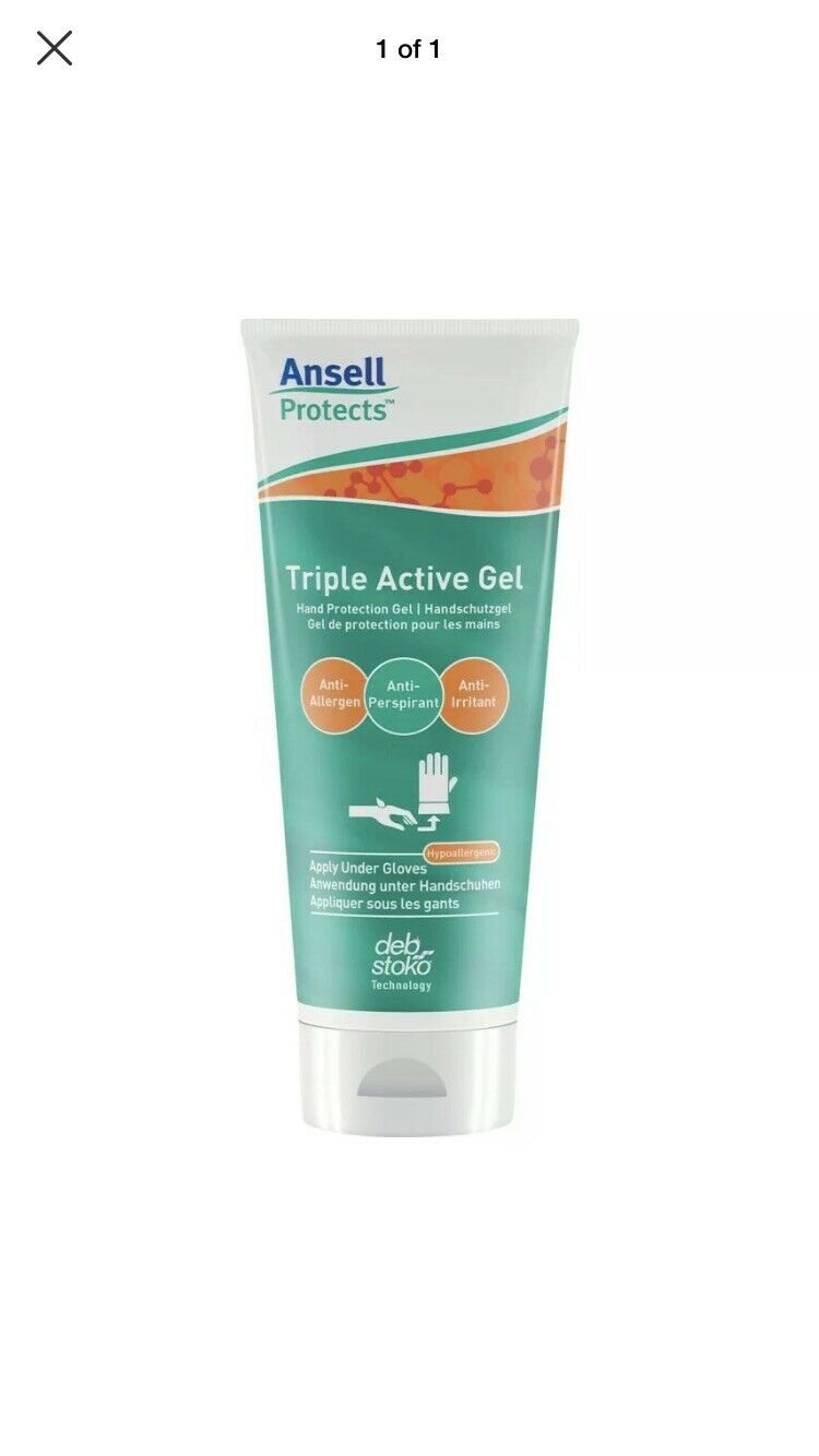 100pcs --in lot - 100ml size - Brand new and Sealed Ansell Products Triple Active Gel - Hand