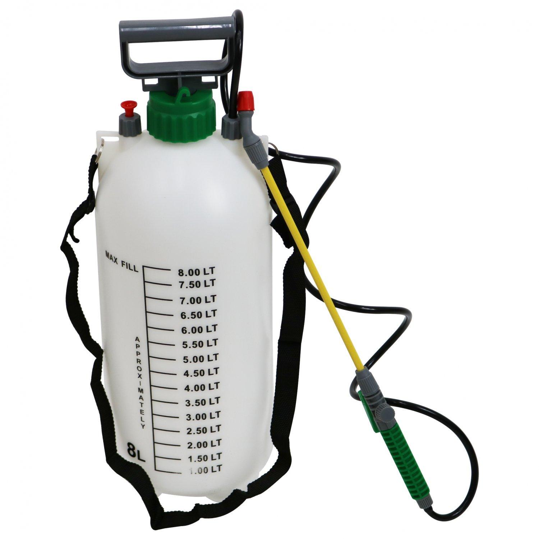 (RU399) 8L 8 Litre Pump Action Pressure Crop Garden Weed Sprayer The pressure sprayer has a ...